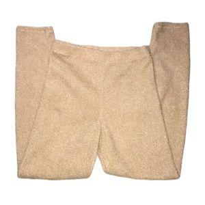 Fashion Nova Nude Fuzzy Pants Size Large